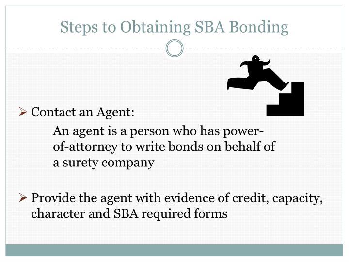 Steps to Obtaining SBA Bonding