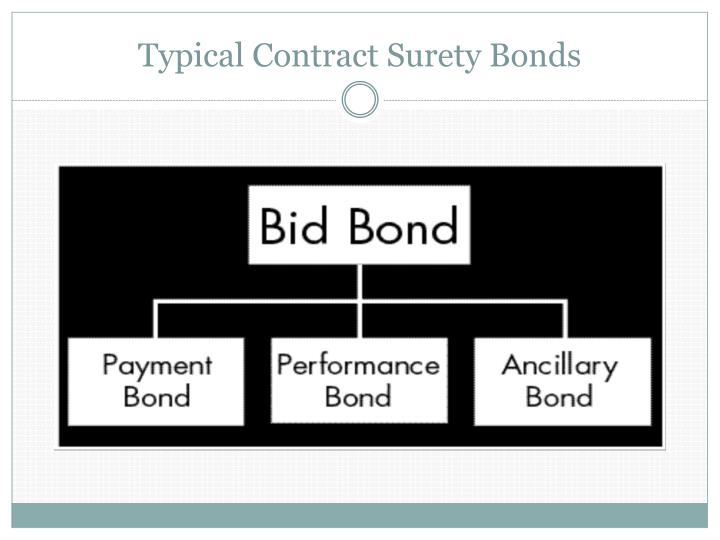 Typical Contract Surety Bonds