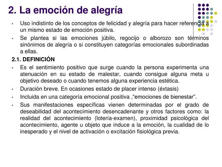 2. La emoción de alegría