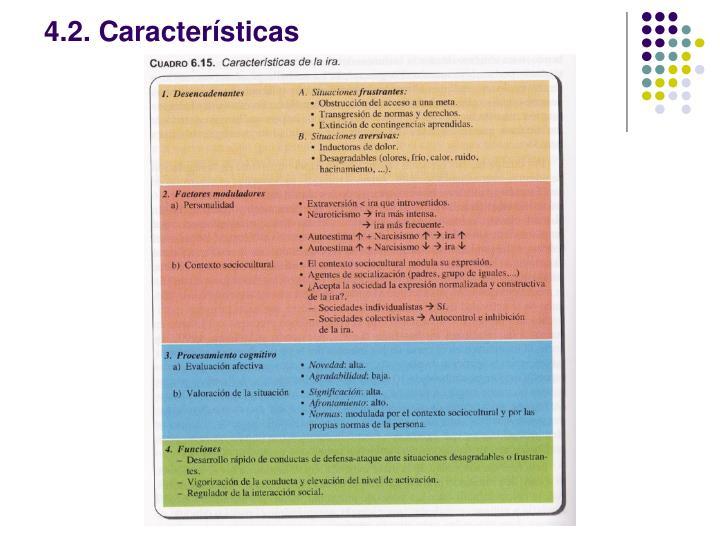 4.2. Características