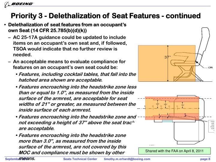 Priority 3 - Delethalization