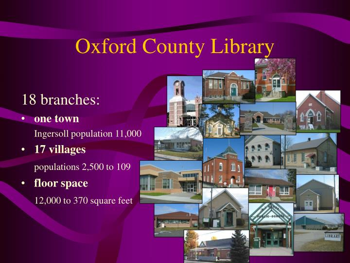 Oxford County Library