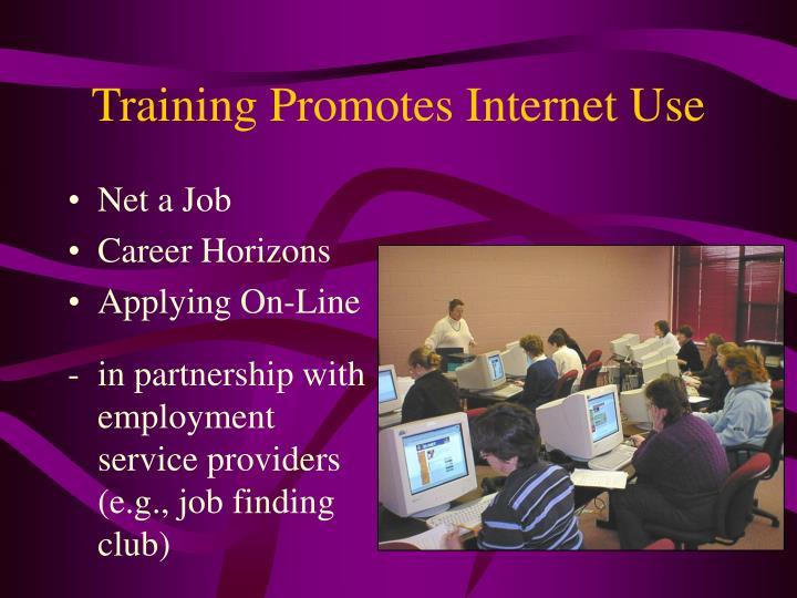 Training Promotes Internet Use