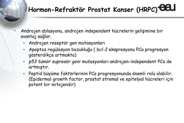 Hormon-Refraktör Prostat Kanser (HRPC)