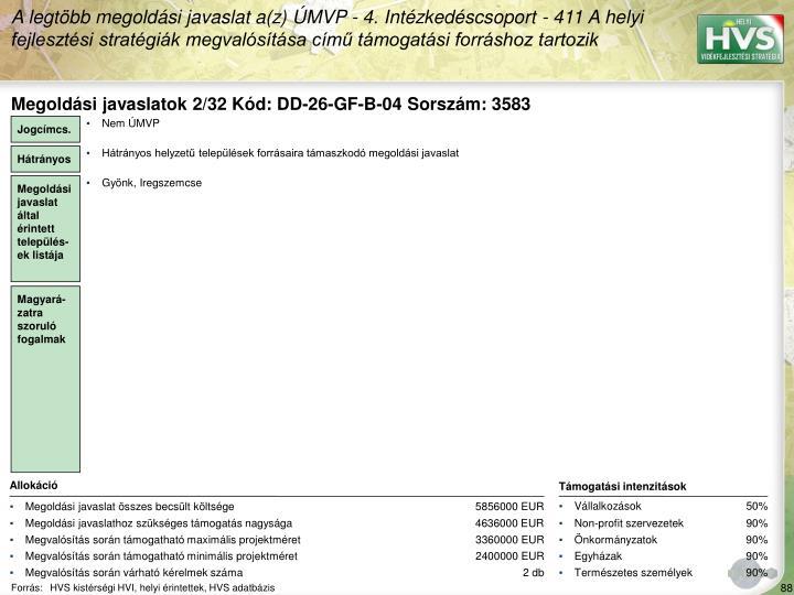 Megoldási javaslatok 2/32 Kód: DD-26-GF-B-04 Sorszám: 3583