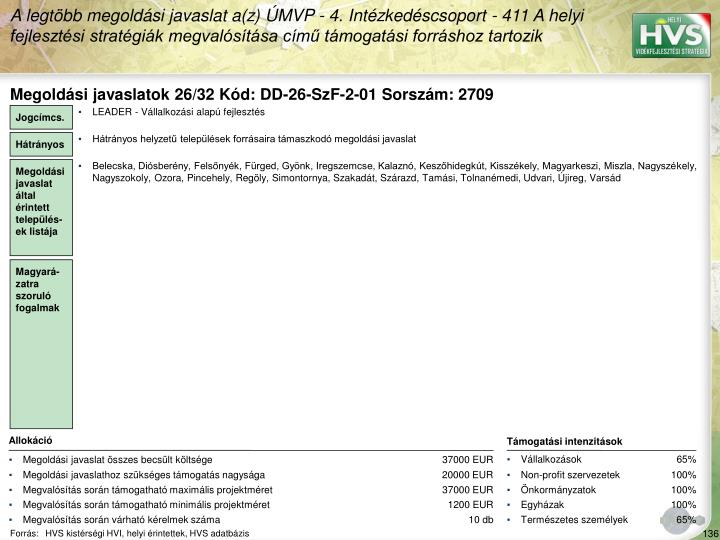 Megoldási javaslatok 26/32 Kód: DD-26-SzF-2-01 Sorszám: 2709