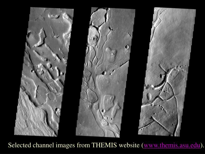 Selected channel images from THEMIS website (