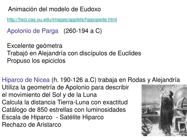 Animación del modelo de Eudoxo