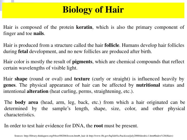 Biology of Hair