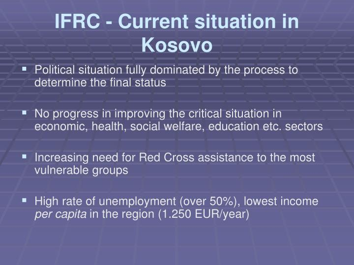 Ifrc current situation in kosovo