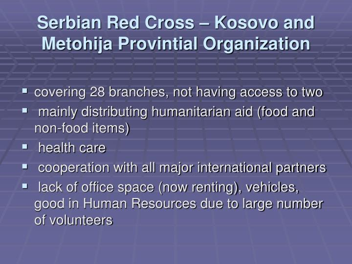 Serbian Red Cross – Kosovo and Metohija Provintial Organization