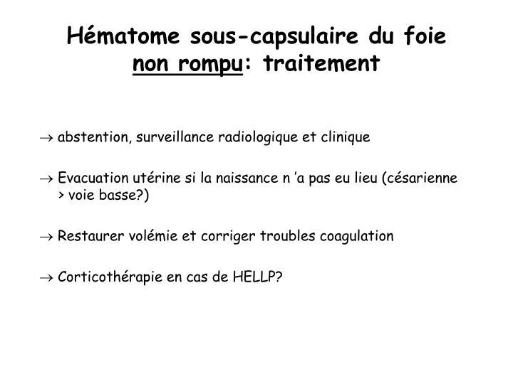 Hématome sous-capsulaire du foie