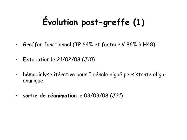 Évolution post-greffe (1)