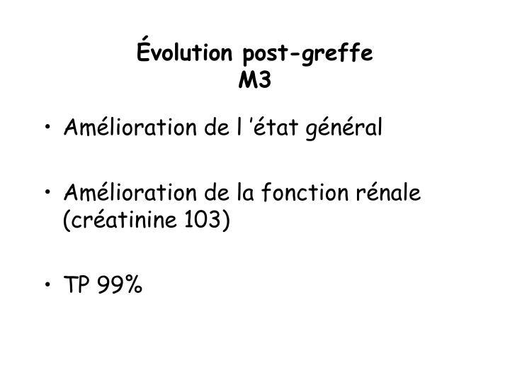 Évolution post-greffe