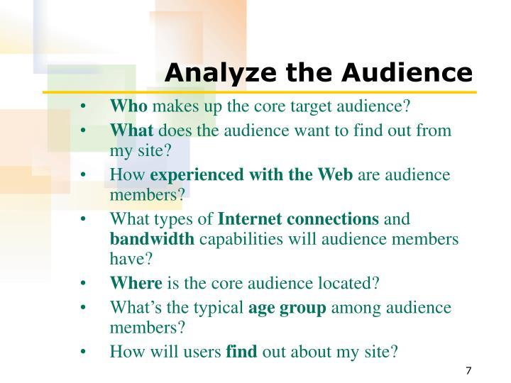Analyze the Audience