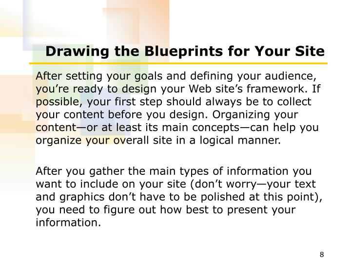 Drawing the Blueprints for Your Site
