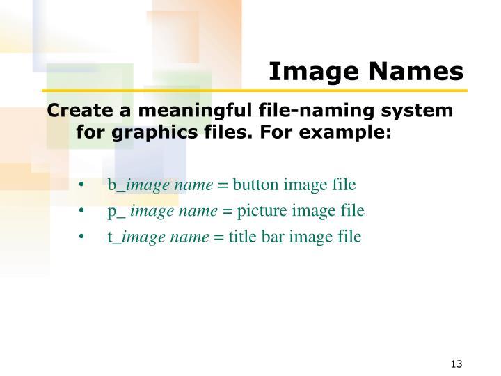 Image Names