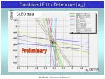 combined fit to determine v cb1