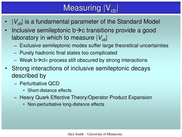 Measuring |V