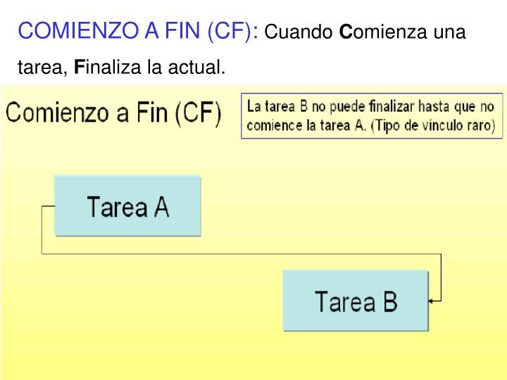COMIENZO A FIN (CF):