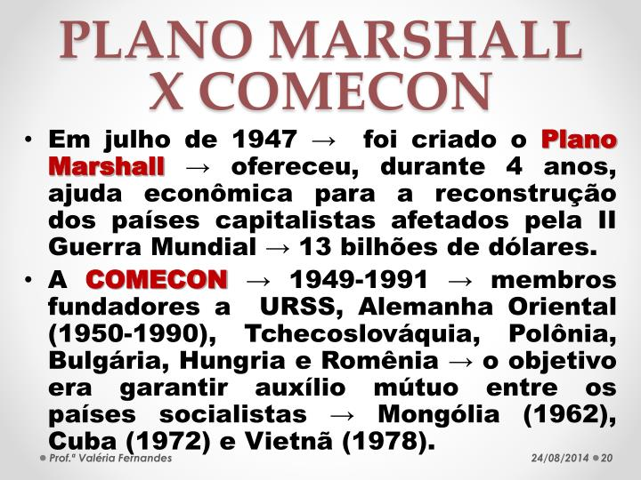 PLANO MARSHALL X COMECON