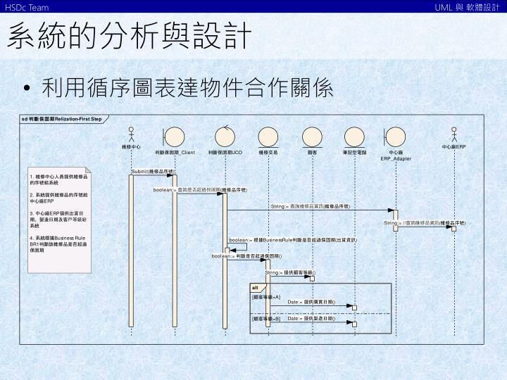 系統的分析與設計