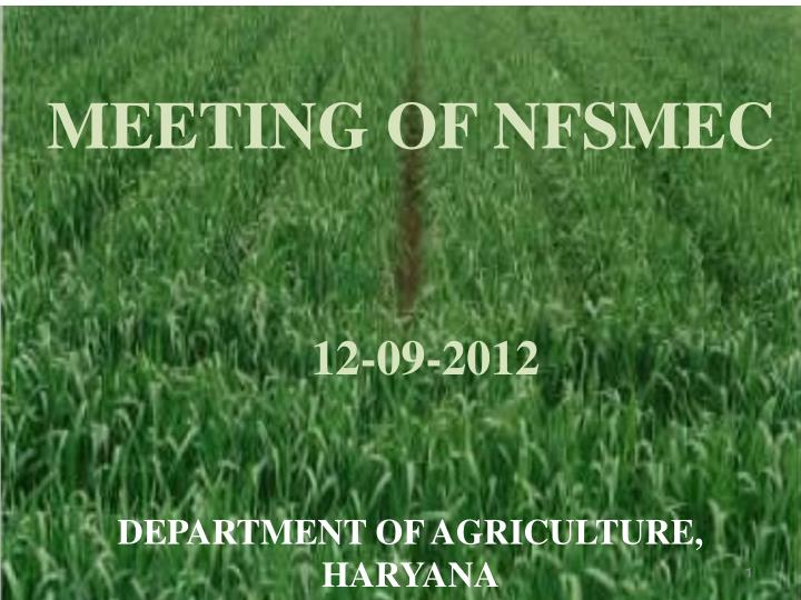 MEETING OF NFSMEC