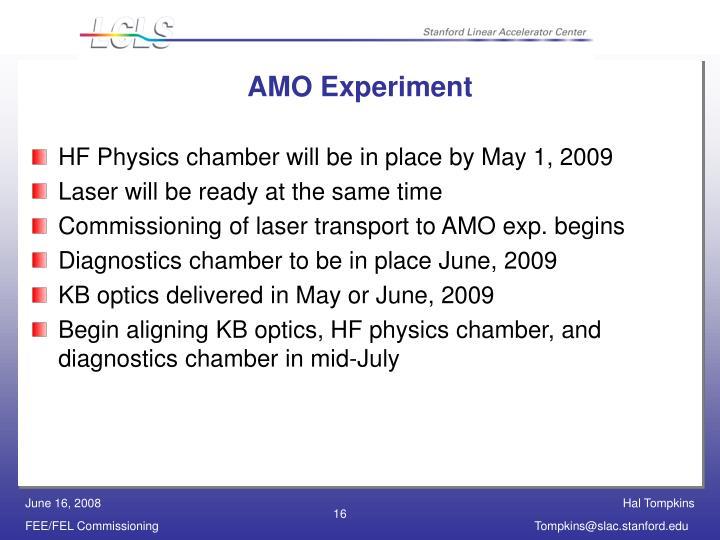 AMO Experiment