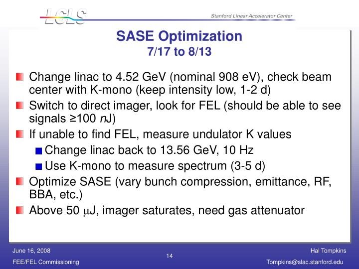SASE Optimization