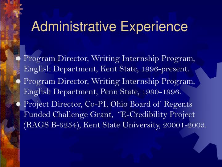 Administrative Experience