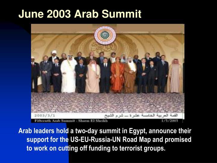 June 2003 Arab Summit