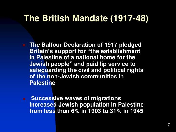 The British Mandate (1917-48)