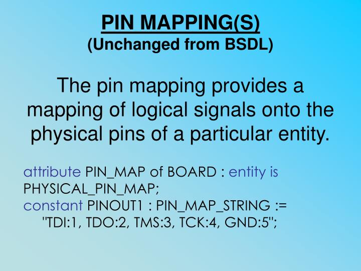 PIN MAPPING(S)