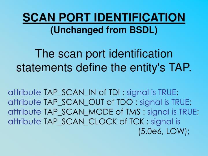SCAN PORT IDENTIFICATION