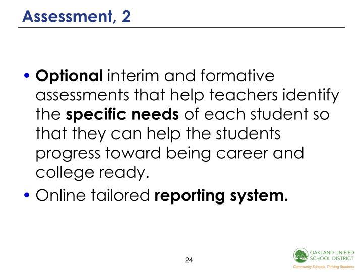Assessment, 2