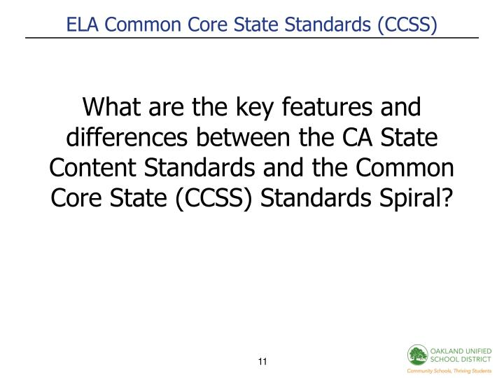 ELA Common Core State Standards (CCSS)