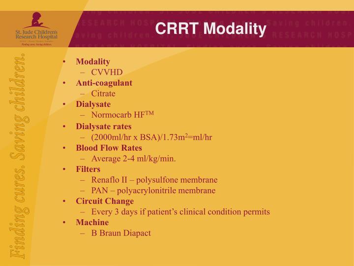 CRRT Modality