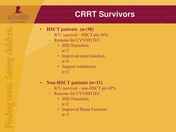 CRRT Survivors