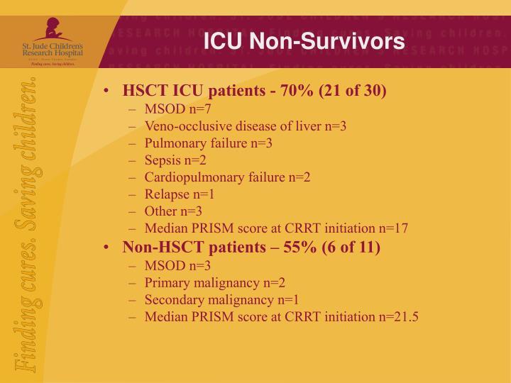 ICU Non-Survivors