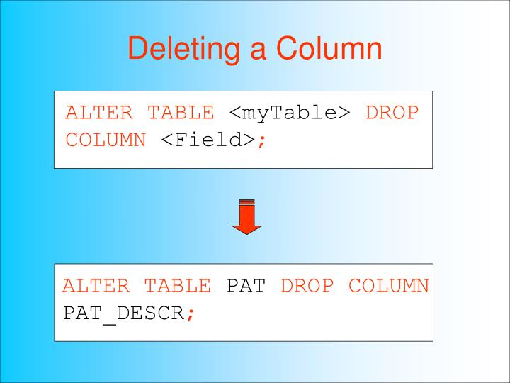 Ppt hsci 709 powerpoint presentation id 3531951 for Emacs org table delete column