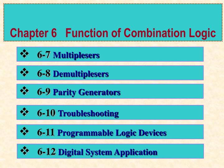 Chapter 6 function of combination logic1