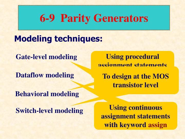 6-9  Parity Generators