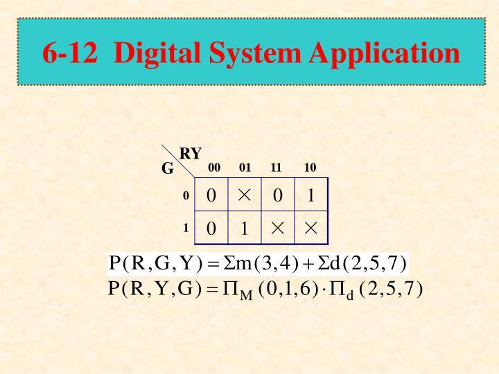 6-12  Digital System Application
