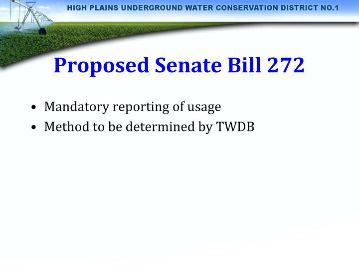 Proposed Senate Bill 272