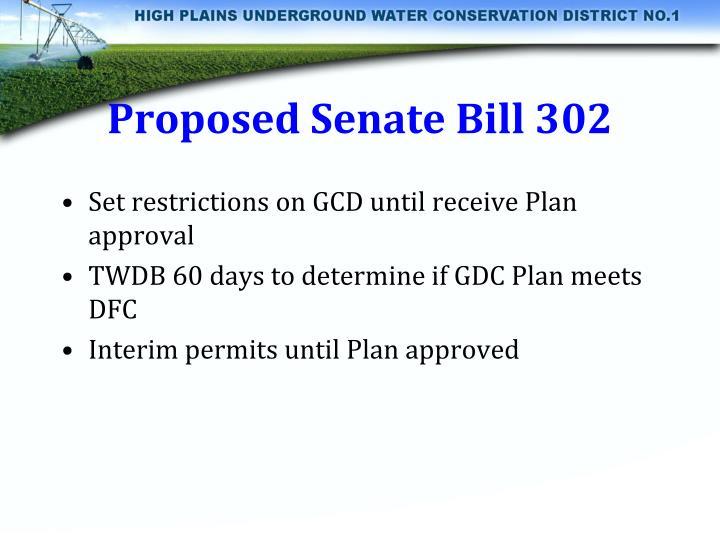 Proposed Senate Bill 302