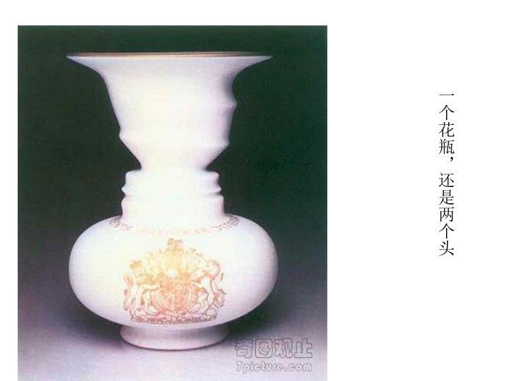 一个花瓶,还是两个头