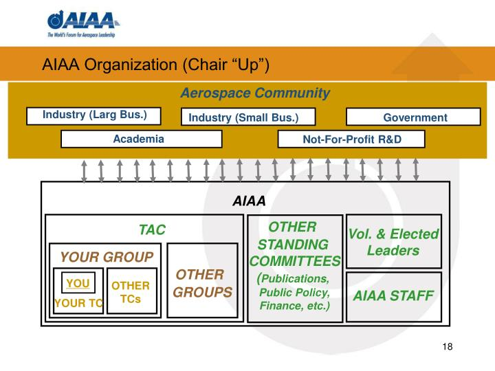 "AIAA Organization (Chair ""Up"")"