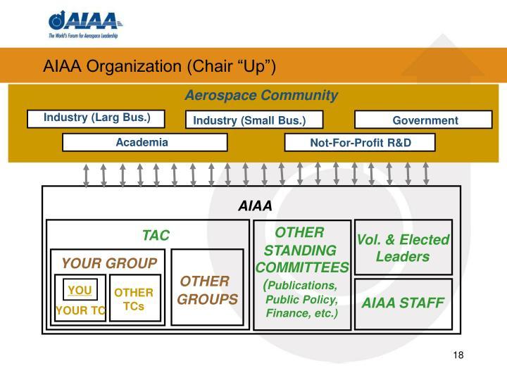 """AIAA Organization (Chair """"Up"""")"""