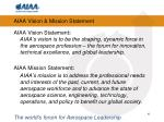 aiaa vision mission statement