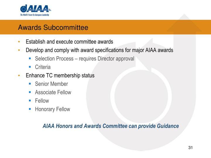 Awards Subcommittee